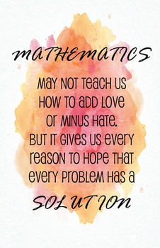Math Poster - Quote