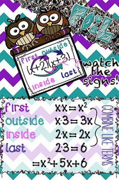Math Posters (Up to 24x36 in size)