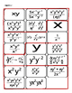 Math: Power Rules Cut Out Activity (Algebra, Simplify Expr