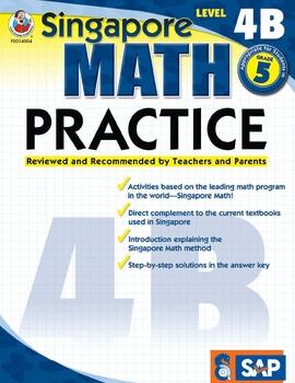Singapore Math Practice Level 4B SALE 20% OFF! 0768240042