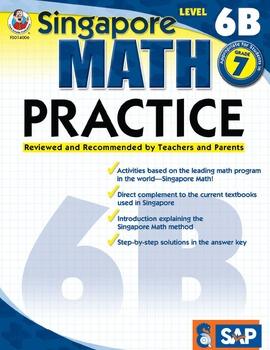 Singapore Math Practice Level 6B SALE 20% OFF! 0768240069