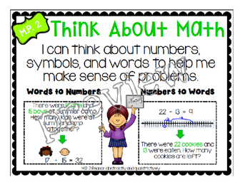 Math Practice 2 Classroom Poster, Lesson Plan, and Journal Pages