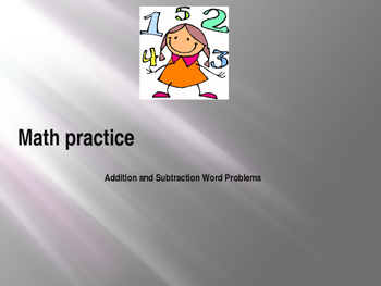 Math Practice: Addition and Subtraction Word Problems (Pow