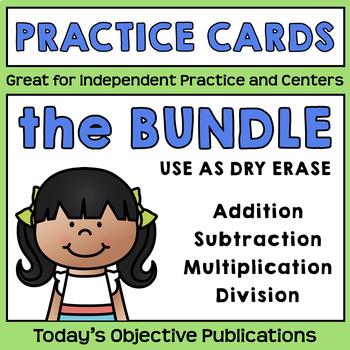 Math Practice Cards Bundle (Dry Erase)