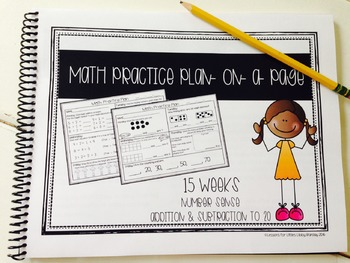 Math Practice Plan-on-a-Page Number Sense Freebie