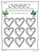 Math Practice Worksheets for 1st Graders: February Themed