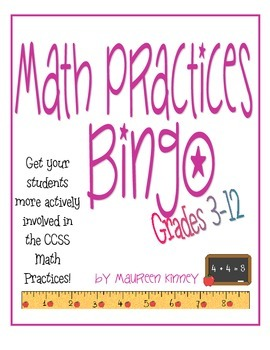 Math Practices Bingo