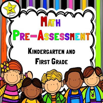 Math Pre-Assessment for Kindergarten and First Grade