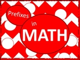 Math Prefixes Poster Set - Red