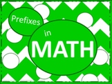 Math Prefixes Poster Set - Green