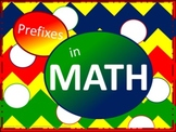 Math Prefixes Poster Set - Mixed Basic Colors