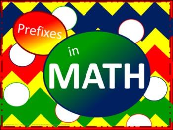 Math Prefixes Poster Set - Mixed Basic Colors