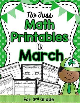 Math Printables for March -3rd Grade (No Fuss!)
