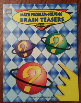 Math Problem-Solving Brain Teasers Softcover Book