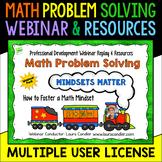 Math Problem Solving: Mindsets Matter Webinar PD Pack (10