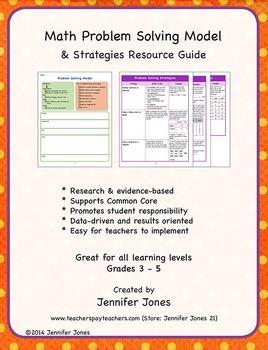 Math Problem Solving Model & Strategies Resource Guide