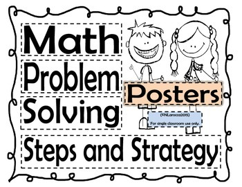 Math Problem Solving Posters - Steps and Strategies 3rd-5th Grade