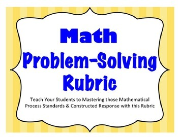 Problem Solving Rubric