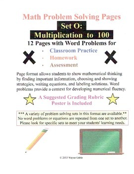 Math Problem Solving Set O: Multiplication to 100