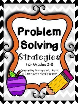 Math Problem Solving Strategies Pack