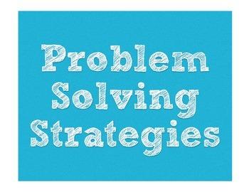 Math Problem Solving Strategies Board