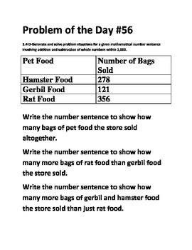 Math Problem of the Day-TEK 2.4D