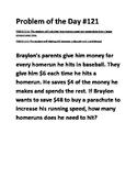 Math Problem of the Day TEKS 2.11A TEKS 2.11C (Financial L