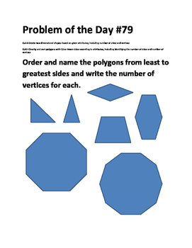 Math Problem of the Day-TEKS 2.8ABC