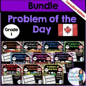 Math Problem of the Day for Grade 1:  BUNDLE (Canadian Edition)