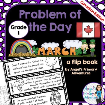 Math Problem of the Day for Grade 1:  March (Canadian Edition)