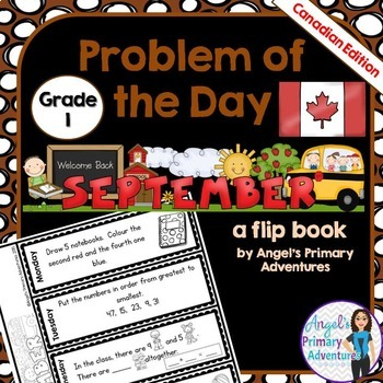 Math Problem of the Day for Grade 1:  September (Canadian
