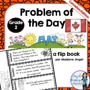 Math Problem of the Day for Grade 2:  May (Canadian Edition)