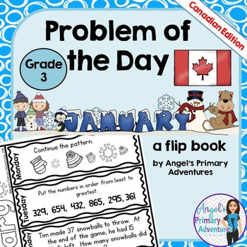 Math Problem of the Day for Grade 3:  January (Canadian Edition)