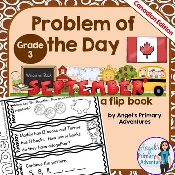 Math Problem of the Day for Grade 3:  September (Canadian