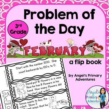 Math Problem of the Day for Third Grade: February