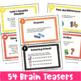 Math Task Cards: Math Problems and Math Brain Teasers Cards Set A