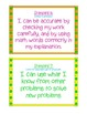 Math Proficiency Standards - I Can Statements