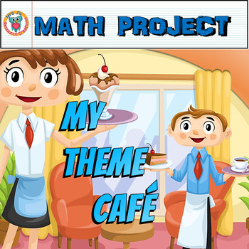 Math Project -- My Theme Cafe {Reviews a Mix of Math Skills}