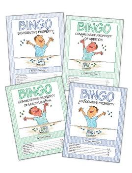 Math Properties Bingo Games  ♥BUNDLE♥