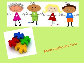 Math Puzzles Activities:Fractions~Multiplication~Decimals