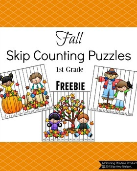 Math Puzzles for 1st Grade - Fall Theme