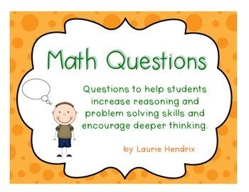 Math Question Cards