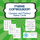 Math Question and Method Cards