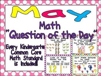 Math Question of the Day- Kindergarten Common Core for May