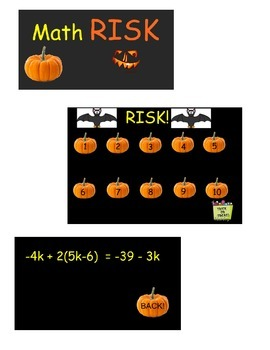 Math RISK- Solving Equations Practice