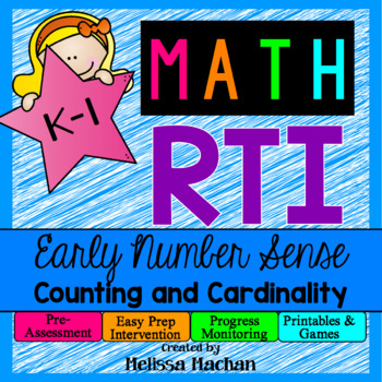 Math RTI / Math Intervention - Early Number Sense - Counti