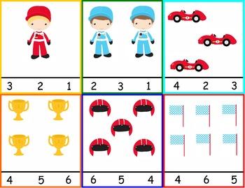 Math Race Car Bundle- 58 Pages!