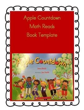 Math Reads-Apple Countdown Book Template