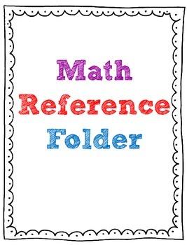 Math Reference Folder