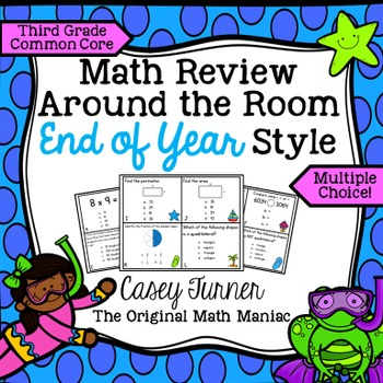 Math Review Around the Room End of Year Style: Third Grade
